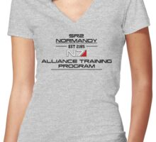 Mass Effect - N7 Training Shirt Women's Fitted V-Neck T-Shirt