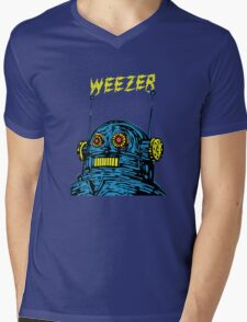 Weezer Robot Mens V-Neck T-Shirt