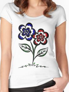 Pairopetals Women's Fitted Scoop T-Shirt