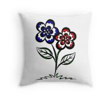 Pairopetals Throw Pillow