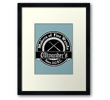 Ollivander's Wand Shop Logo Framed Print