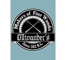 Ollivander's Wand Shop Logo Photographic Print
