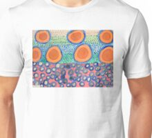 Seven Red Circles Many Brown Dots Unisex T-Shirt