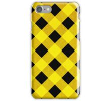 Black and yellow crisscross pattern iPhone Case/Skin