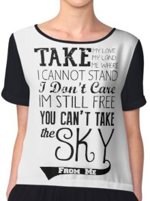Firefly Theme song quote Chiffon Top
