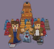 8bit Time traveller vs Robot Droid Dalek Kids Tee