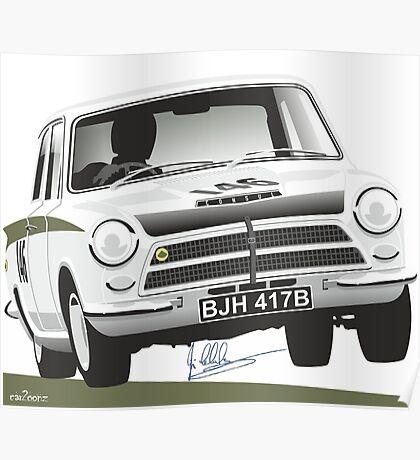 Jim Clark's Ford Cortina Lotus 1964 Poster