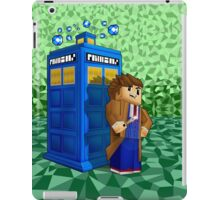 Time traveller in 8bit world iPad Case/Skin