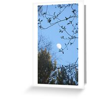 Daytime Moon Greeting Card