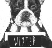 Winter is boring Sticker