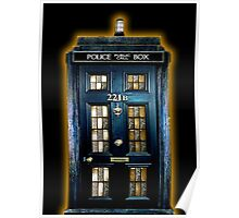 Police Blue Box The Doctor Poster