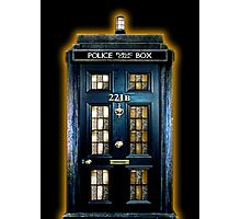 Police Blue Box The Doctor Photographic Print