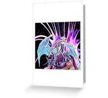 triple dragon threat Greeting Card