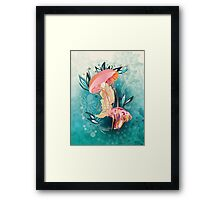 Jellyfish tangling Framed Print
