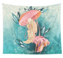Jellyfish tangling Wall Tapestry