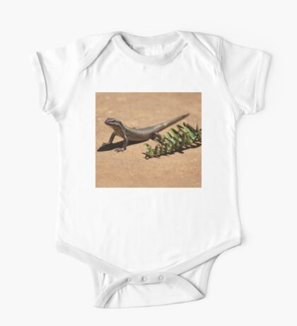 Interacting with wildlife - African Striped Skink One Piece - Short Sleeve