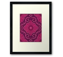 """Ruby flowers"" floral arabesque pattern Framed Print"