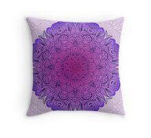 MANDALA - PURPLE Throw Pillow