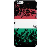 Hungary Flag Ink Splatter iPhone Case/Skin