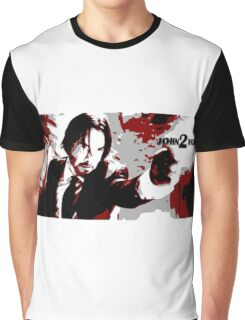 John Wick 2 Bloodied Red Design Graphic T-Shirt
