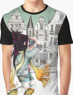 Viola is enjoying beautiful places in the city... Graphic T-Shirt