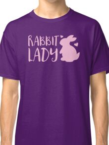 RABBIT LADY bunny's heart Classic T-Shirt