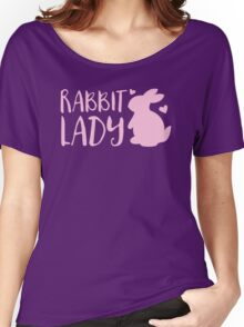 RABBIT LADY bunny's heart Women's Relaxed Fit T-Shirt
