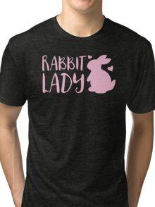 RABBIT LADY bunny's heart Tri-blend T-Shirt