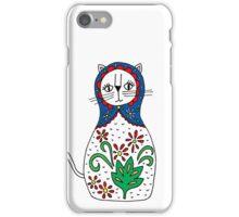 Matryoshka Russian Doll Kitty iPhone Case/Skin