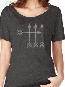 4 arrows hipster arrow archery design Women's Relaxed Fit T-Shirt
