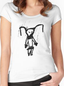 Emo Evil Rabbit Women's Fitted Scoop T-Shirt
