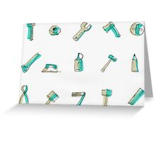Real tools for man... Greeting Card