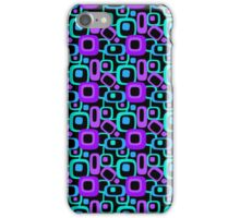 Retro '70's Purple and Teal iPhone Case/Skin