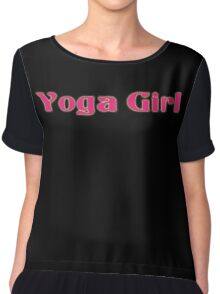 Yoga Girl T-Shirt - Yoga Class Clothing -  Chiffon Top