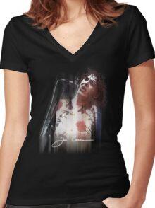joe Women's Fitted V-Neck T-Shirt
