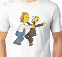 Bottom - Rik Mayall & Ade Edmondson - Simpsons Style Unisex T-Shirt