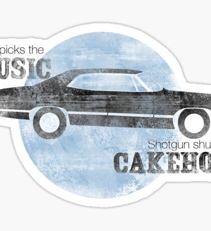 Shotgun shuts his cakehole Sticker