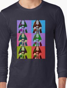 Aleister Crowley Pop Art Long Sleeve T-Shirt