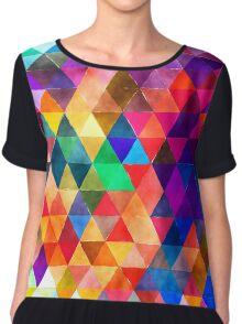 triangle pattern Chiffon Top