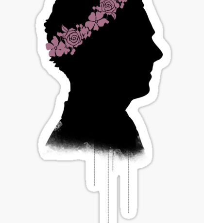 Cumberbatch in a flower crown Sticker