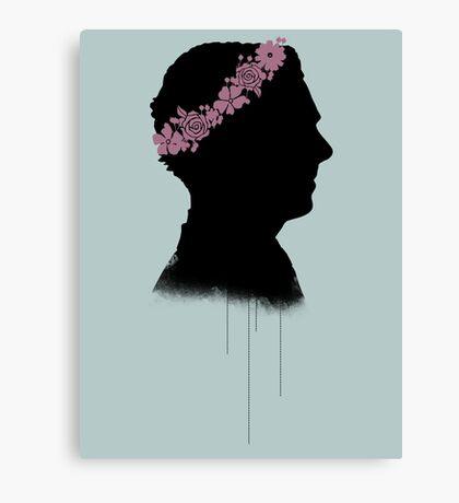 Cumberbatch in a flower crown Canvas Print