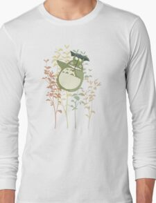 Totoro's flowers Long Sleeve T-Shirt