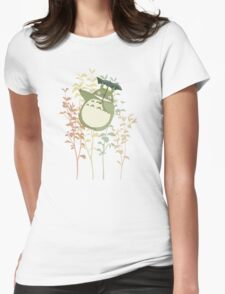 Totoro's flowers Womens Fitted T-Shirt