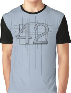 Hitchhiker's Guide to the Galaxy - 42 Graphic T-Shirt