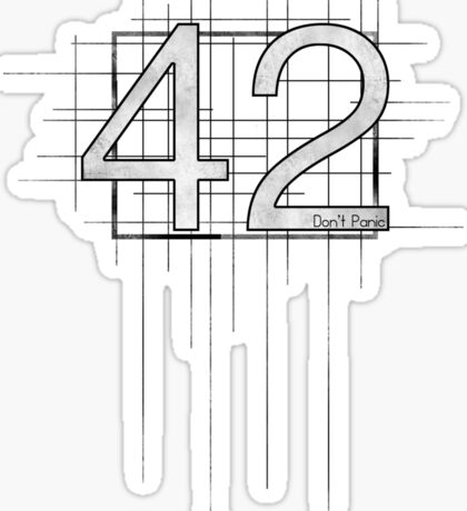 Hitchhiker's Guide to the Galaxy - 42 Sticker