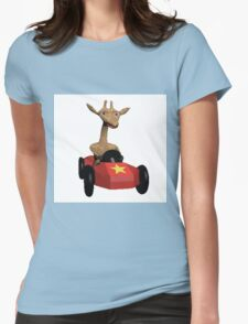 Wild Animal Racing  Womens Fitted T-Shirt