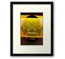 Skull with light painting Framed Print