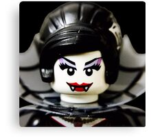 Lego Spider Lady minifigure Canvas Print