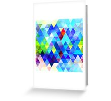 triangle pattern Greeting Card