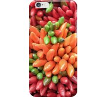 Colorful hot chili peppers background iPhone Case/Skin